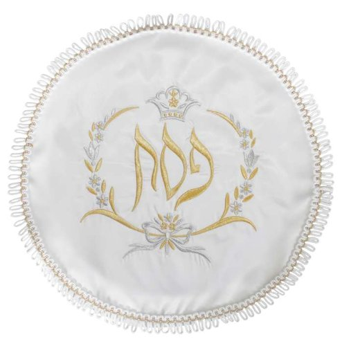 Terylene Gold/Silver Embroidered Matzah Cover