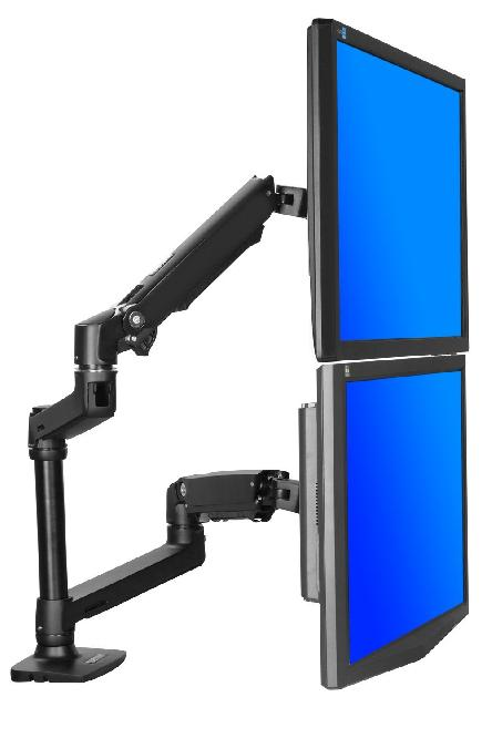 Dual Lcd Adjustable Monitor Stand Haltermount Mount Units