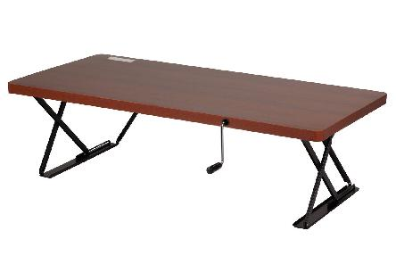 Manual Adjustable Height Table Top Sit Stand Desk Cherry