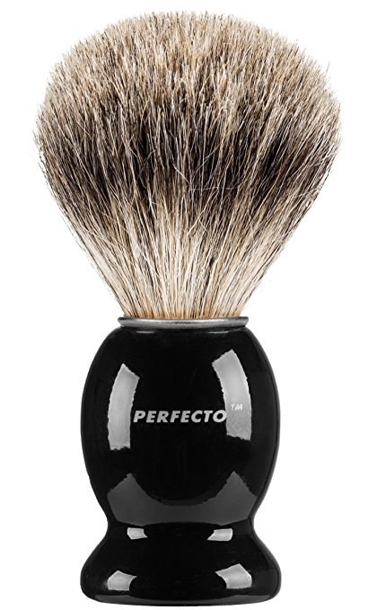 Black Handle Pure Badger Shaving Brush