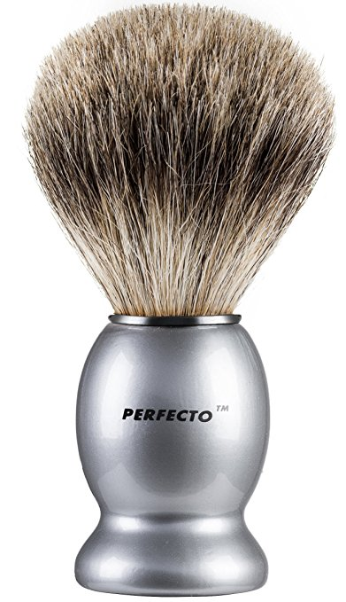 Silver Handle Pure Badger Shaving Brush